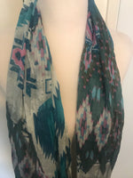 Turquoise Print Scarf - Amber Moon