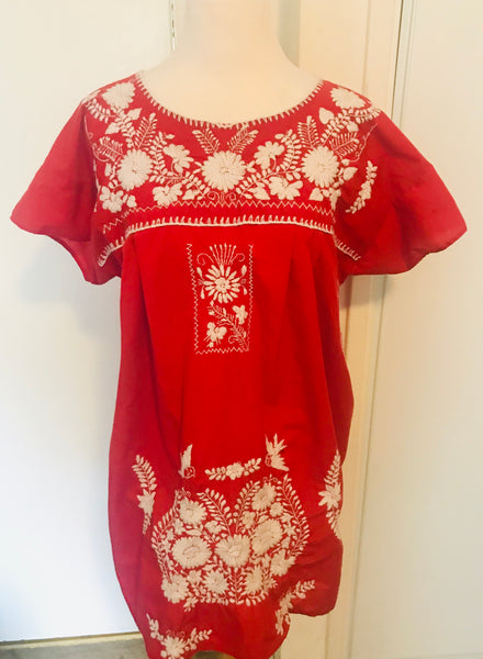 Vintage Mexican Dress - Amber Moon