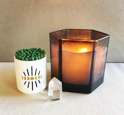 Moon Phase Matchstick Jar | Wishcraft Goods - Amber Moon