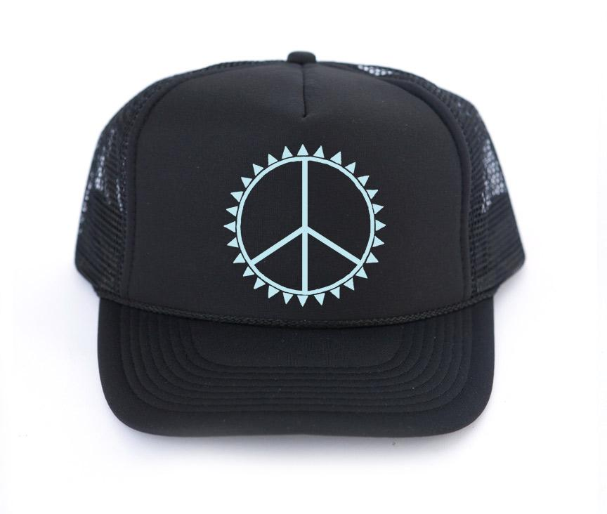 The PEACE Trucker Hat | Mothersun and the Captain - Amber Moon