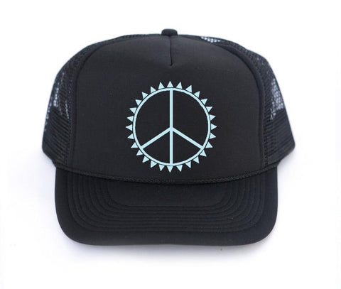 The PEACE Trucker Hat - Amber Moon