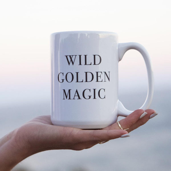 Wild Golden Magic Coffee Mug - Amber Moon