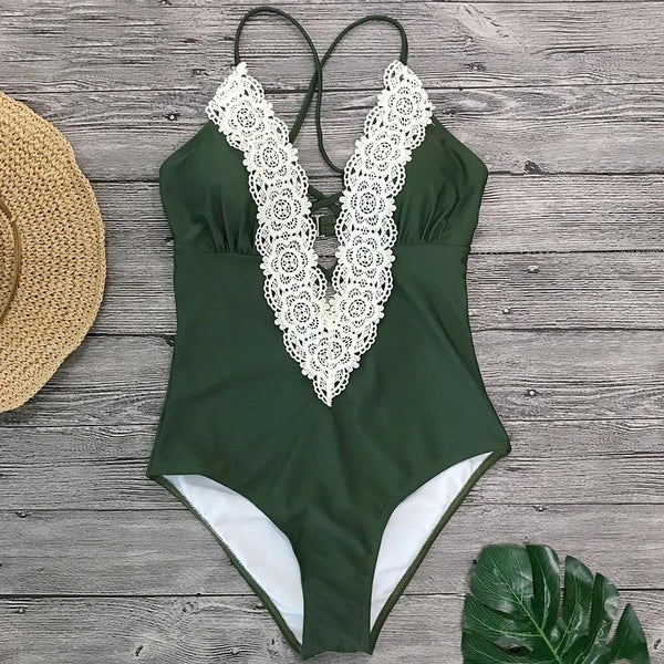 Lace Monokini Bandage Swimsuit