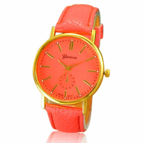 Faux Leather Wrist Watch by Pesci Moda