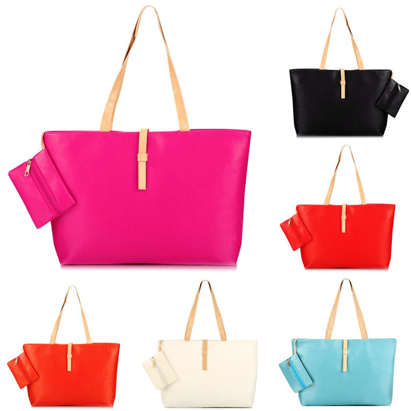 Woman's Fashionable Leather Handbag (5 Colors) by Pesci Moda