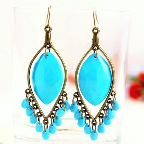 Water Droplets Tassel Earrings by Pesci Moda