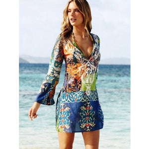 Vintage Tribe Print Cover Up  - 1
