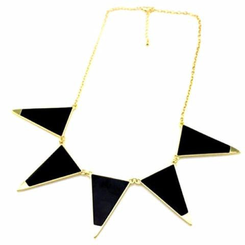 Triangle Shape Necklace by Pesci Moda