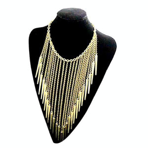 New Retro Style Punk Rivet Tassels Necklace by Pesci Moda