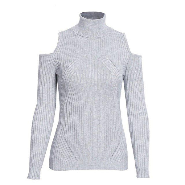 Light Pink Turtleneck Casual Pullover by Pesci Moda