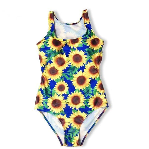 Sunflower Print Summer Swimsuit