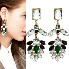 Crystal Rhinestone Earrings by Pesci Moda