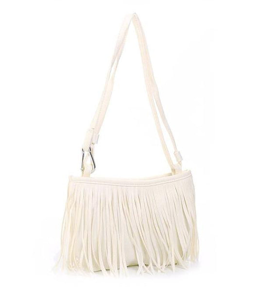 Woman's Tassel Shoulder Cross Handbag  - 4