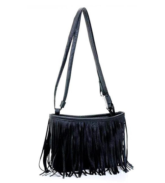 Woman's Tassel Shoulder Cross Handbag  - 2