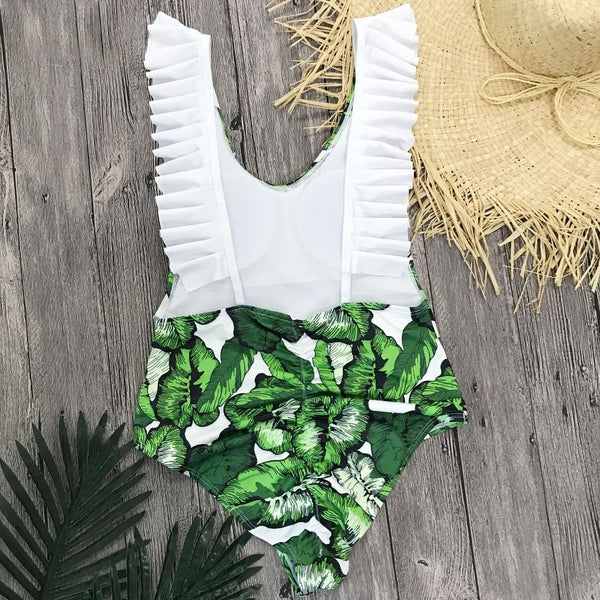 New Ruffle Backless Swimsuit