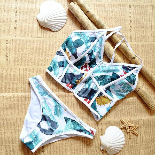 Leafy Printed Stylish Beachwear  - 6