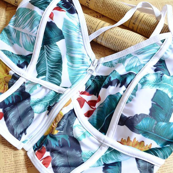 Leafy Printed Stylish Beachwear  - 5