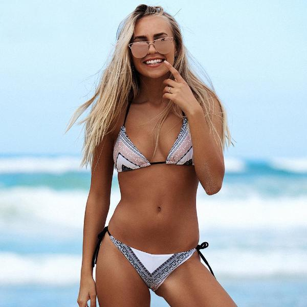 Beach Hot Ethnic Triangle Bikini Set