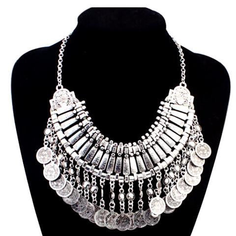 Stylish Fashion Coin Collar Necklace by Pesci Moda