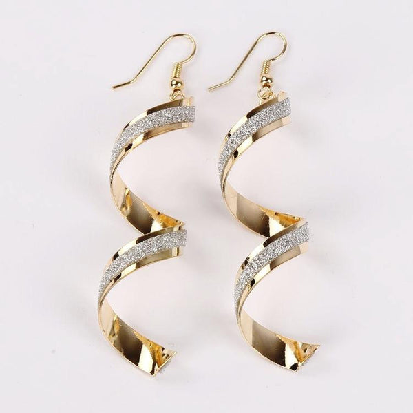 Long Dangle Hook Earrings by Pesci Moda