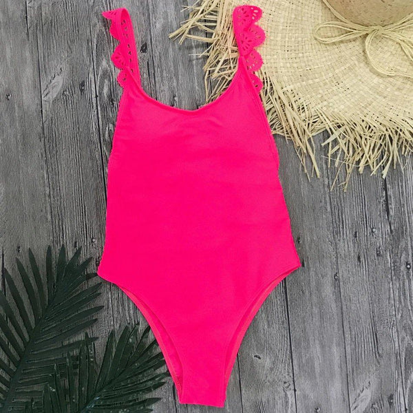 Chic Trending Ruffle Backless Swimsuit