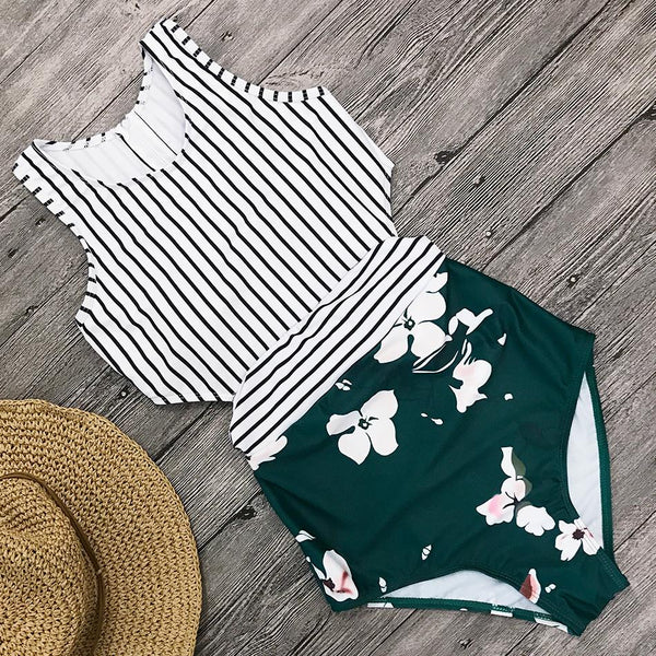Spring Fashion Stripe Swimwear