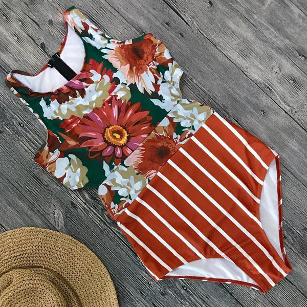 Red Orangy Summer Hot Swimsuit