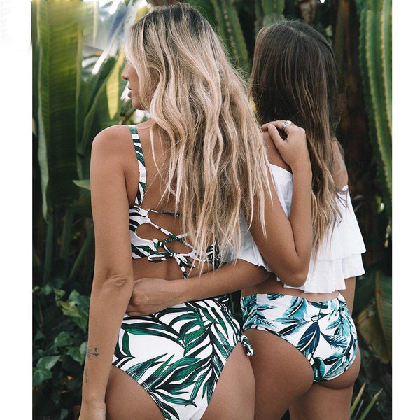Leaf Love Sexy High Waisted Bikini