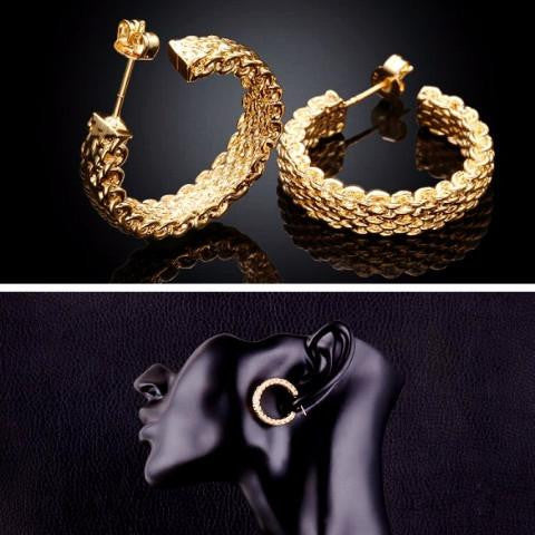 18K Gold Plated Earrings by Pesci Moda