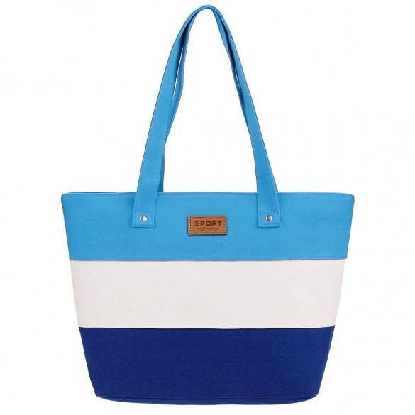 New Stylish Striped Color Contrast Handbag  - 5