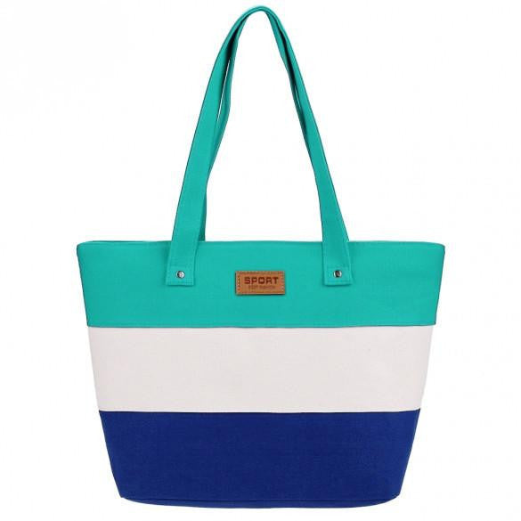 New Stylish Striped Color Contrast Handbag  - 2