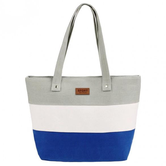 New Stylish Striped Color Contrast Handbag  - 6
