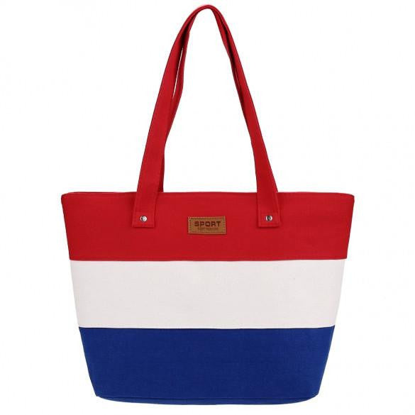 New Stylish Striped Color Contrast Handbag  - 3