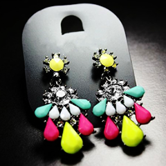 Colorful Crystal Earring by Pesci Moda