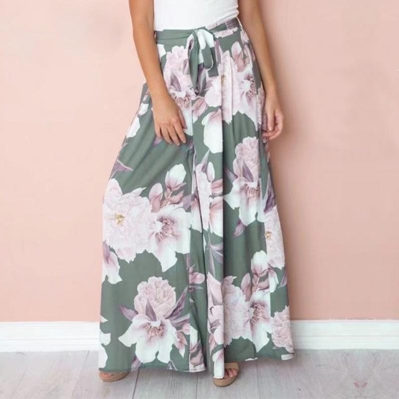Casual Floral Boho Loose Pants by Pesci Moda