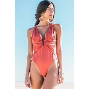 Beach Hot Deep Neck Swimwear