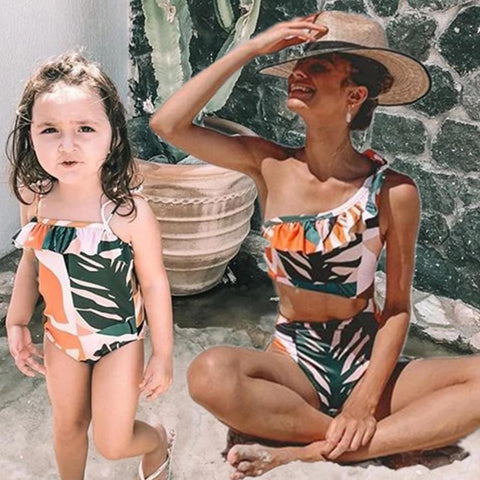 Mom and Daughter Swimsuits