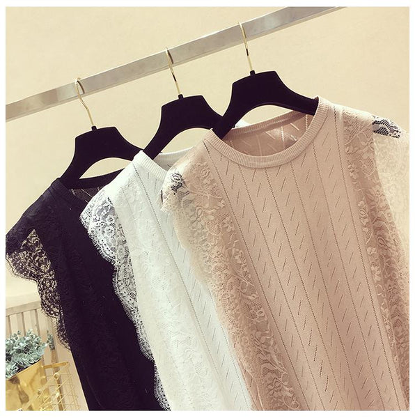 Lace Knitted Tops