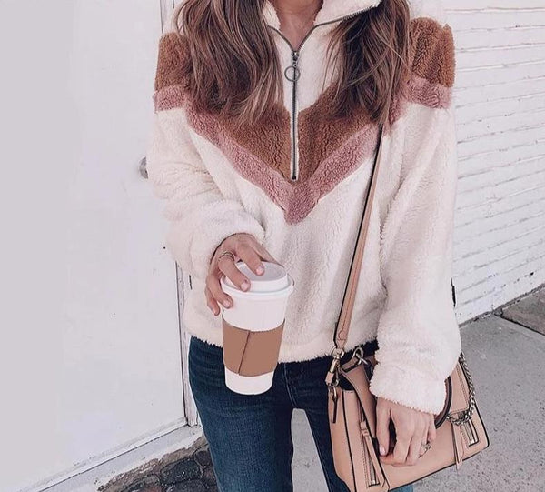 Casual Winter Zipper Sweatshirt