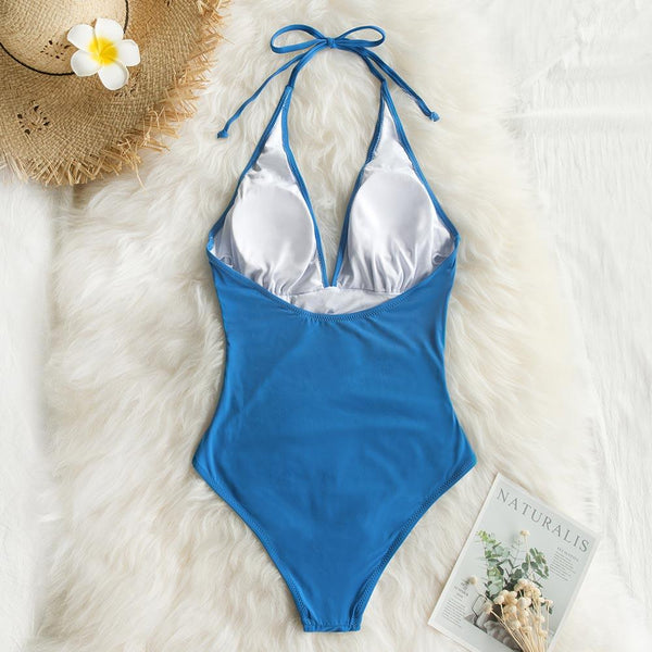 Beachwear Halter One Piece Swimsuit