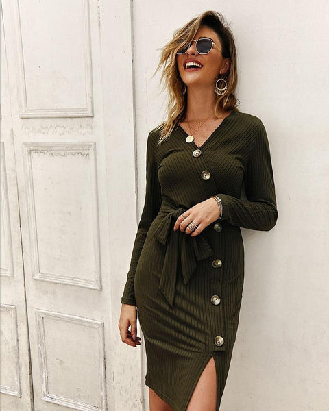 Bodycon Knitted Sweater Dress