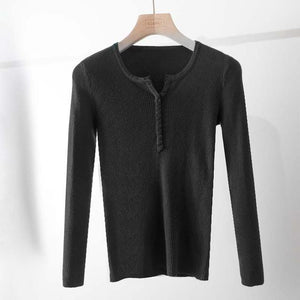 Casual Slim Knitted Pullover