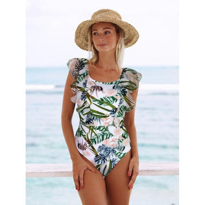 Leafy Floral Swimsuit
