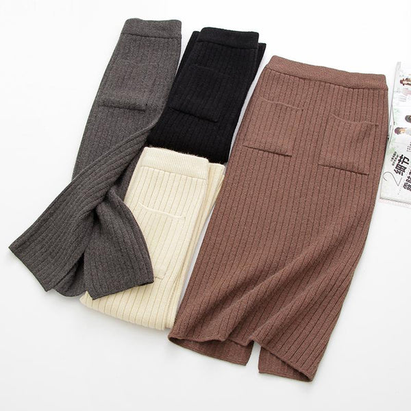 Warm Knitted Pencil Skirts