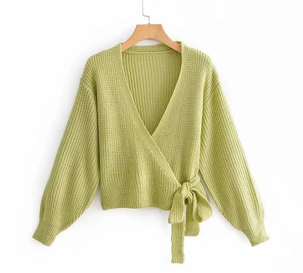 Green Loose Knitted Sweater