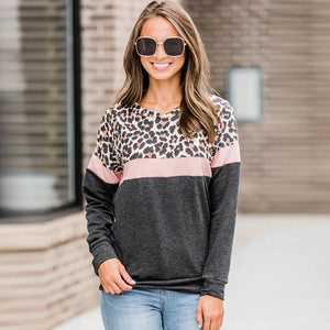 Leopard Striped Sweatshirt