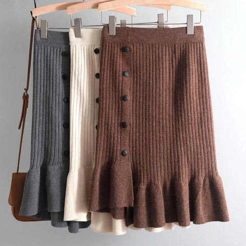 Cashmere Elegant Sweater Skirt