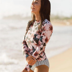 Vintage Long Sleeve Swimwear