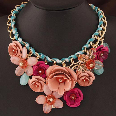 Floral Choker Necklace by Pesci Moda