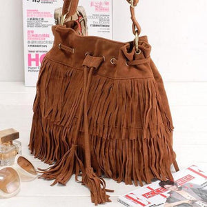 Fringe Tassels Cross-body Shoulder Purse/Bag by Pesci Moda